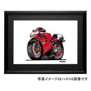 イラスト DUCATI 916(赤/黒)|motorparade