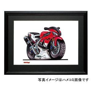 イラスト YZF-R1(赤/白)|motorparade