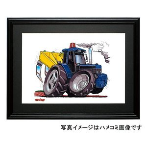 イラスト フォード・トラクター(青)|motorparade
