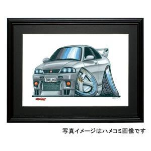 イラスト スカイラインR33GT-R|motorparade