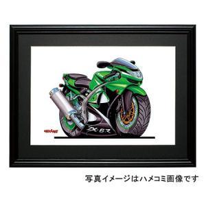 イラスト カワサキNinja ZX-6R(緑)|motorparade