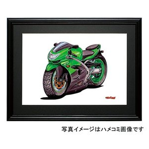 イラスト カワサキNinja ZX-9R(緑)|motorparade