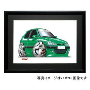 イラスト プジョー106(緑)|motorparade