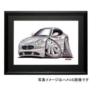 イラスト マセラティ3200GT(銀)|motorparade