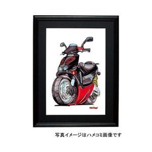 イラスト APRILIA 50cc(赤/黒)|motorparade