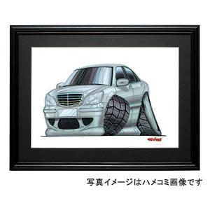 イラスト Sクラス W220(斜め前)|motorparade