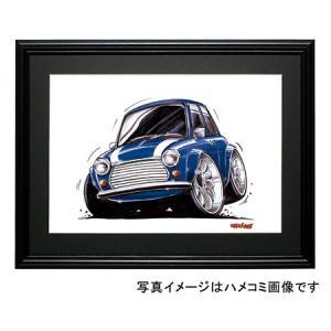 イラスト ミニ・クーパー(青/白)|motorparade