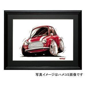イラスト ミニ・クーパー(赤/白)|motorparade