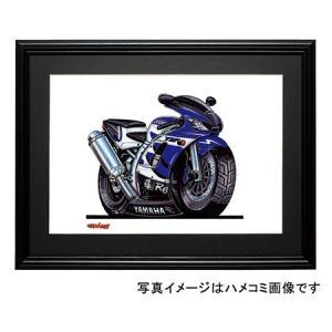 イラスト YZF-R6(青)|motorparade