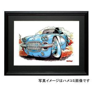 イラスト C1コルベット(1958)|motorparade
