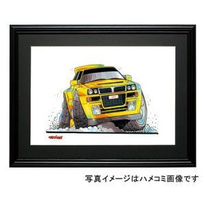 イラスト ランチア・インテグラーレ(黄)|motorparade