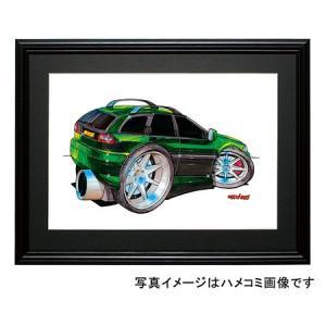 イラスト ボルボV40(緑)|motorparade