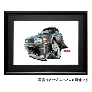 イラスト ボルボ240(セダン・黒)|motorparade