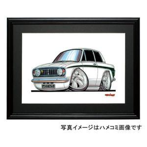 イラスト ロータス・コルチナMK-II(白)|motorparade