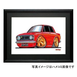 イラスト ロータス・コルチナMK-II(赤)|motorparade