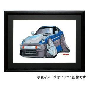 イラスト フェアレディーZ(S130・青/銀)|motorparade