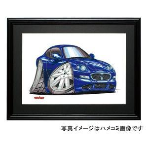 イラスト マセラティ3200GT(青)|motorparade