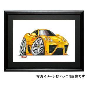 イラスト フェラーリ360モデナ(黄)|motorparade
