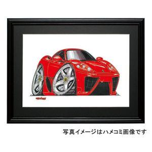 イラスト フェラーリ360モデナ(赤)|motorparade