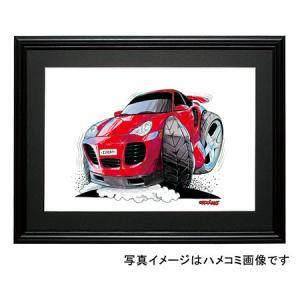 イラスト ポルシェ911ターボ(996・赤) motorparade