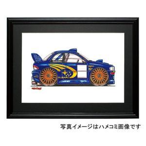 イラスト GCインプレッサ(WRC・横)|motorparade
