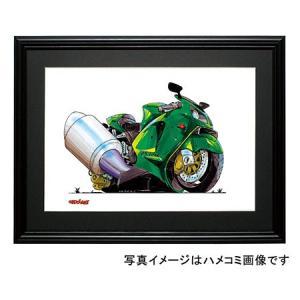イラスト カワサキNinja ZX-12R(緑)|motorparade