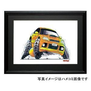 イラスト レガシーB4(BE5・黄)|motorparade