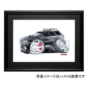イラスト レガシーBF5(ワゴン・黒)|motorparade