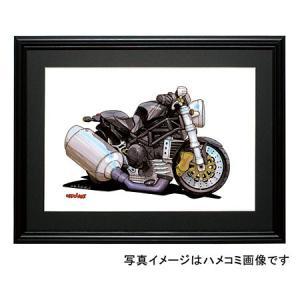 イラスト ドカティ・モンスター(黒)|motorparade