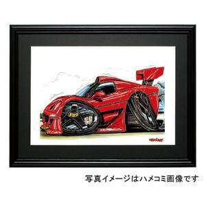 イラスト フェラーリF50GTR|motorparade