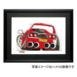 イラスト フェラーリF50(後ろ)|motorparade