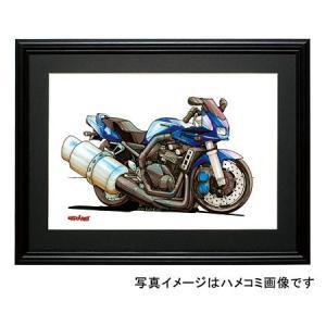 イラスト FZS600フェザー(青)|motorparade