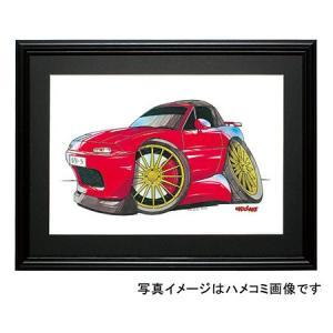 イラスト ユーノス・ロードスター(NA・赤)|motorparade