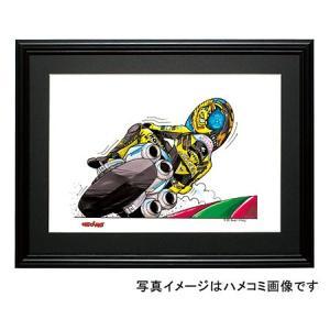 イラスト ロッシ NSR 500GP(後ろ姿)|motorparade