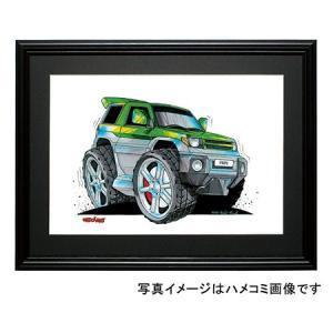 イラスト パジェロ・イオ(Pinin・緑)|motorparade