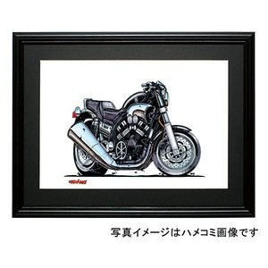 イラスト YAMAHA V-MAX(黒)|motorparade