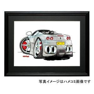 イラスト 360モデナ(スパイダー・銀)|motorparade