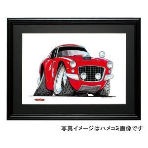 イラスト フェラーリ250GT(赤)|motorparade