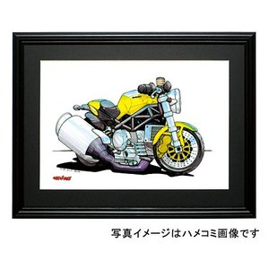 イラスト ドカティ・モンスター(黄)|motorparade