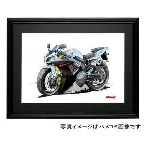 イラスト YZF-R1(銀)|motorparade