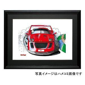 イラスト フェラーリF40(前)|motorparade