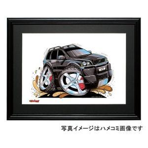 イラスト ボルボXC90(黒)|motorparade