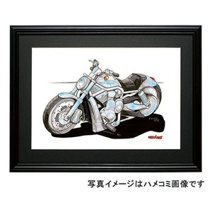 イラスト HARLEY VRSCA V-ROD(銀)|motorparade