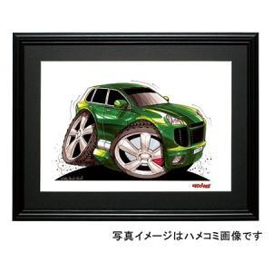 イラスト ポルシェ・カイエン(緑) motorparade