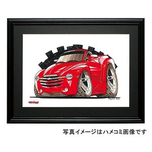 イラスト シボレー・SSR(赤)|motorparade