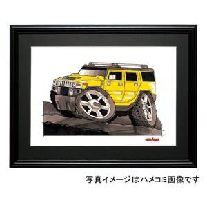 イラスト ハマーH2 SUV(黄)|motorparade