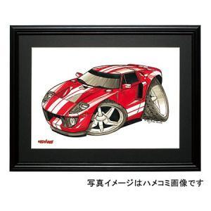 イラスト GT40(赤/白)|motorparade