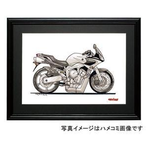 イラスト FZ-6S FAZER(銀)|motorparade