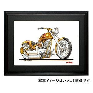 イラスト HARLEY CUSTOM CHOPPER(金)|motorparade