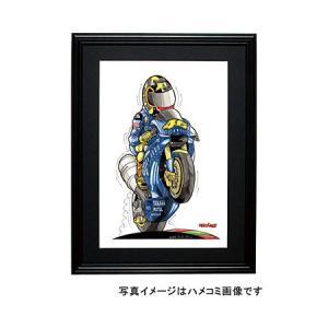 イラスト ロッシ MotoGP(2004・右向き)|motorparade